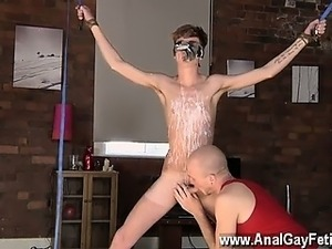 Twink sex Twink boy Jacob Daniels is his recent meal, roped