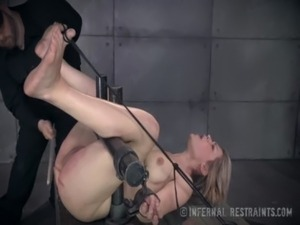 Sweet Blonde Begs For Pain In Bondage free