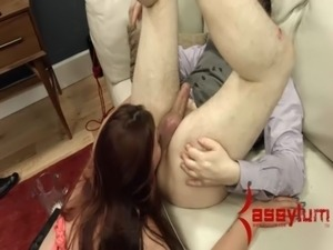 Big ass whore rides an ass to mouth merrygoround and swims in her own ass...