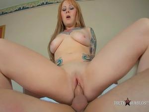 Tiny Tit Tattooed Redhead Misti Dawn