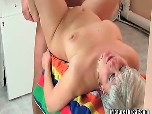 Amazing old slut missionary fucking with some younger dude