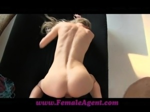 FemaleAgent Stunning blonde fucked by MILF agents boss free