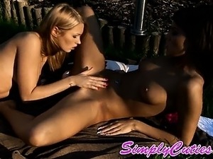 Extreme hot lesbian outdoor