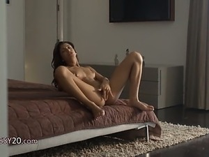 Wet orgasm of exotic beauty posing