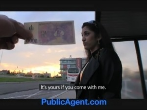 PublicAgent Amateur Asian anal sex outside on the car free