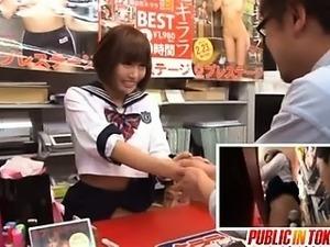 Kirara Asuka Japanese AV model has public sex