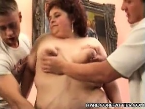Horny BBW Threesome Sex