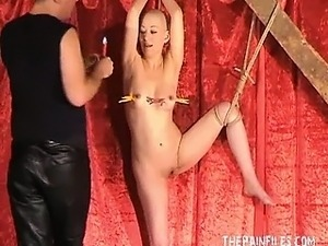 Bald asian fetish model Kumi Monsters hot waxing punishments and kinky...
