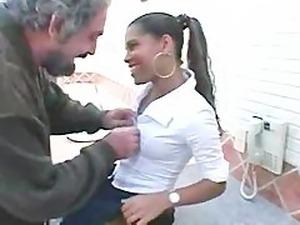 Hot Ebony Milla and Old man