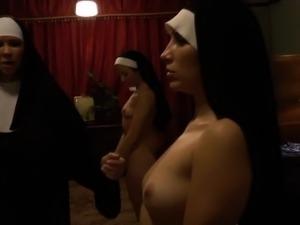 Holy nun gets ass rimjob
