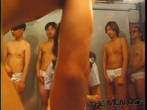 Bukkake Highschool Lesson 5 1/4 Japanese uncensored blowjob free