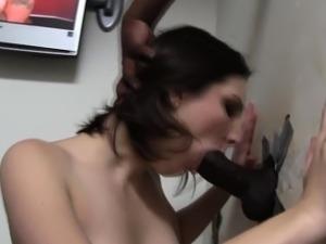 Ho deepthroats black cock