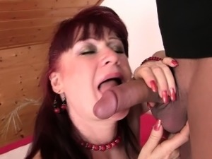 Hot girlfriends mom in stockings rides his cock