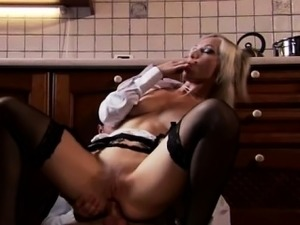 Alluring beauty Asha fucking on the kitchen floor