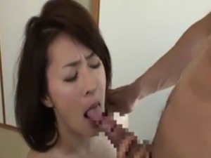 Fuck pretty face Japanese stepmother