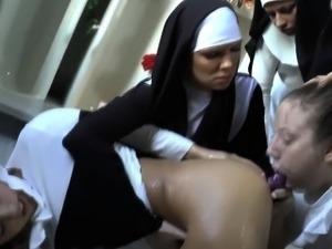 Fetish nun gets gagged