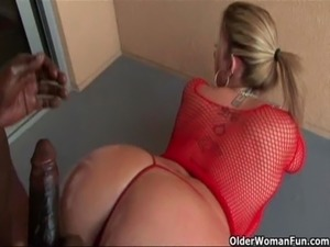 Big boobed milf fucks a big black cock free