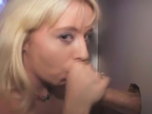 Dirty Blonde Amateur Sucks And Milks Dick Dry At Glory Hole