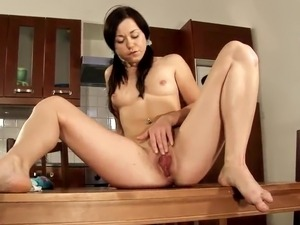 Kitchen Pleasures close by the Hot Solo gal Kaira