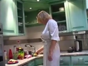 My stepmother in the kitchen early morning Hotmoza
