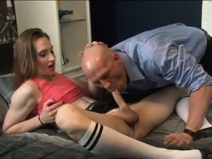 Hot tranny Jacqueline Woods anal ripped by horny dude