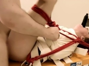 Extreme dildo anal erotica with rope BDSM teacher