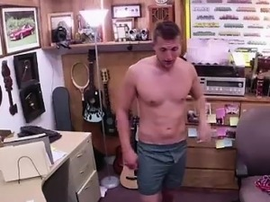 Gay dudes pay straight amateur to strip on camera