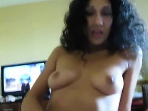 Hot Shaved MILF riding his hard shaft