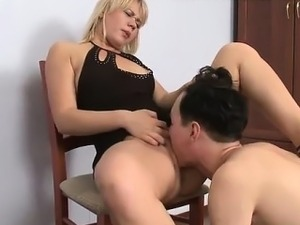 Slave Licks Cunt Of Mistress