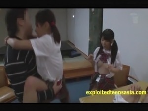 Jav Teen Schoolgirls Suck & Fuck There Teacher Shaved Vaginas free