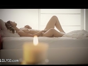 gracefully super babe fingering and touching her clit
