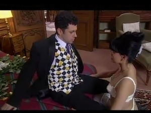 Black haired Bride Consummating A Marriage well After A Wedding