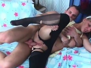 Busty adorable girl drilled in muff