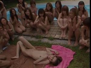 naked limbo dance