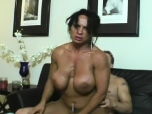 Muscle babe Cordie likes a cock more