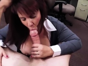 Sexy tits MILF deepthroat huge cock and pounded hard in the