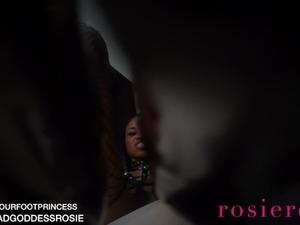 Ebony Boot Domination Femdom POV GODDESS ROSIE REED