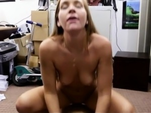 Babe in wedding dress banged by pawn guy at the pawnshop