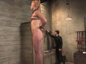 Short-haired Blonde Dylan likes Being got laid While bound Up