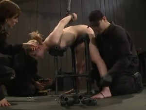 Lily Labeau Enjoys the mouth And crotch shafting inside tied mov