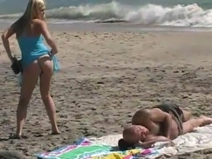 It's Time For Some Erotic funtime At A seashore not far from Alison Angel
