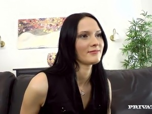 The Leggy black haired has rearend got laid And Facialed At the Casting