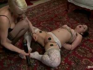 Charlotte Vale Enjoys Having the toy inside Her Vag And Erotic Wax onto Her...