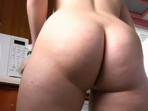 Plump mom with hairy cunt, wide ass & real tits