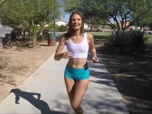 Sporty Shyla Warms Her Butt cheeks For Deep Anal Drills