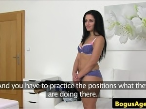 Casting eurobabe doggystyled in the office