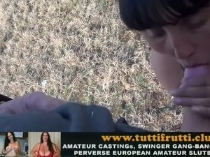 huge natural tits mom fake street casting