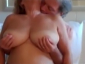Big natural tits and pussy play with mature wife.