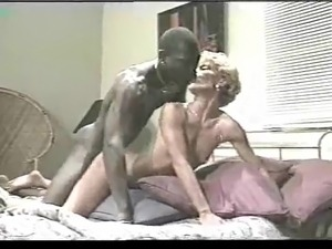 Milf takes in ass and mouth from young black stud