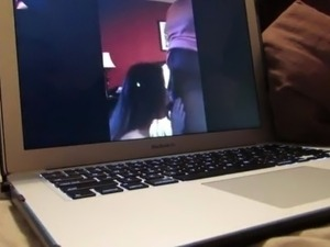 Cuckold husband FaceTime with hot wife